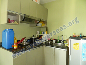 Ama University Hostel room kitchen