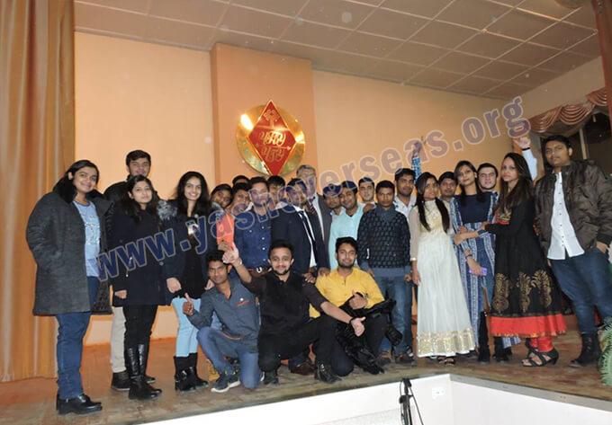 Chuvash State University Medical Academy fresher party group photo