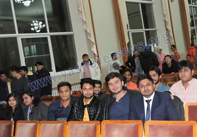 Chuvash State University Medical Academy freshers party celebration