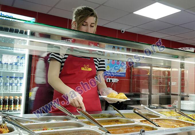 Kharkiv National Medical University student in canteen