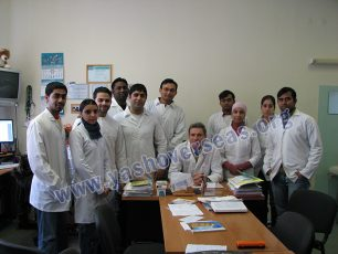 Volgograd Medical University doctor with patient