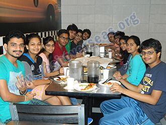 fatima university Students in canteen